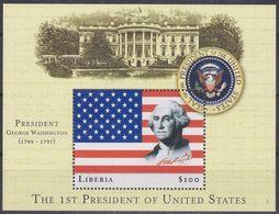 Liberia 3274 - Presidents Of The USA ( George Washington ) 2000 M/S - MNH - George Washington