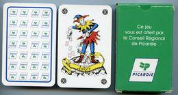 JEU DE 52 CARTES  - 2 JOKERS Et ETUI - CONSEIL REGIONAL DE PICARDIE - Cartes à Jouer Classiques
