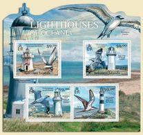 SOLOMON ISLANDS - 2012 - Lighthouses Of Oceania - Perf 4v Sheet - M N H - Solomon Islands (1978-...)