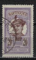 MARTINIQUE            N°  YVERT   67  ( 2 )   OBLITERE       ( Ob   6 / 49 ) - Martinique (1886-1947)