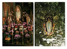 CPM - LA VIERGE - 2 Cartes - Virgen Mary & Madonnas