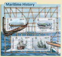 SOLOMON ISLANDS - 2012 - Maritime History - Perf 4v Sheet - M N H - Isole Salomone (1978-...)