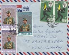 Brunei 1969 To Kaufbeuren Via Air Mail - Brunei (1984-...)