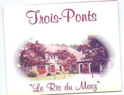 Visitekaartje - Carte De Visite - Villa Le Ris Du Meez - Trois Ponts - Visitekaartjes
