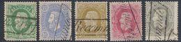 """émission 1869 - Petit Lot : N°30, 31, 32, 34 Et 35 Annulé Par La Griffe """"RECOMMANDE"""". Bel Ensemble ! TB - 1869-1883 Leopold II"""