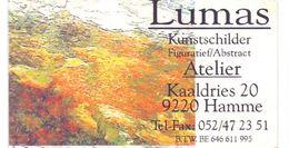 Visitekaartje - Carte De Visite - Kunstschilder Lumas - Hamme - Visitekaartjes