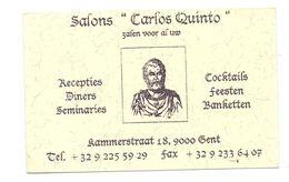 Visitekaartje - Carte De Visite - Salons Carlos Quinto - Gent - Visitekaartjes