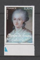 FRANCE / 2020 / Y&T N° 5408 ** : Olympe De Gouges X 1 BdF Bas - Nuevos