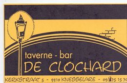 Visitekaartje - Carte De Visite - Taverne Bar De Clochard - Knesselare - Visitekaartjes