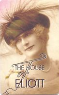 Visitekaartje - Carte De Visite - Restaurant The House Of Eliott - Donkersteeg Gent - Visitekaartjes