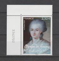 FRANCE / 2020 / Y&T N° 5409 ? ** : Olympe De Gouges X 1 CdF Sup G Avec N° De Feuille - Frankreich