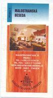 Visitekaartje - Carte De Visite - Restaurant - Malostranska Beseda  - Praha Praag Prague - Visitekaartjes