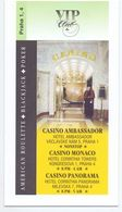 Visitekaartje - Carte De Visite - VIP Casino Ambassador - Praha Praag Prague - Visitekaartjes