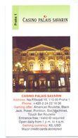 Visitekaartje - Carte De Visite - Casino Palais Savarin - Praha Praag Prague - Visitekaartjes