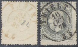 """émission 1869 - N°35 Obl Double Cercle """"Thielt"""" (1878). Superbe Frappe ! - 1869-1883 Leopold II."""