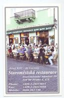 Visitekaartje - Carte De Visite - Restaurant - Staromestska Restaurace - Praha Praag Prague - Visiting Cards