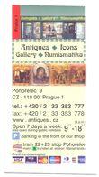 Visitekaartje - Carte De Visite - Antiques - Gallery  - Praha Praag Prague - Visitekaartjes
