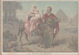 CHROMO  IMAGE RELIGIEUSE  LA FUITE EN EGYPTE - Devotion Images