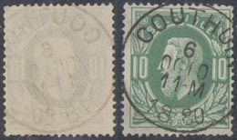 """émission 1869 - N°30 Obl Simple Cercle """"Couthuin"""". TB - 1869-1883 Leopold II"""