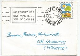 PSEUDO ENTIER POSTE LETTRE + SMILI MECANIQUE - Postal Stamped Stationery
