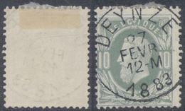 "émission 1869 - N°30 Obl Simple Cercle ""Deynze"". Superbe - 1869-1883 Leopold II"
