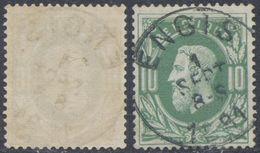 "émission 1869 - N°30 Obl Simple Cercle ""Engis"" - 1869-1883 Leopold II"