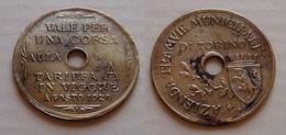 GETTONE 1920 AZIENDA TRAMVIE MUNICIPALI TORINO TARIFFA A - Professionals/Firms