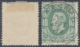 "émission 1869 - N°30 Obl Simple Cercle ""Frasnes"". TB - 1869-1883 Leopold II"