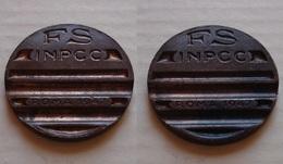 GETTONE F.S. INPCC 1947 IST. NAZ. PREVIDENZA E CREDITO DELLE COMUNICAZIONI - Professionnels/De Société
