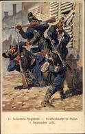 Artiste Cp Hoffmann, A., Balan Ardennes, 14 Infanterie Regiment, Straßenkampf 1870 - Autres Communes
