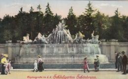 AK - Wien - Neptungrotte Im K.k. Schloßgarten SCHÖNBRUNN 1912 - Château De Schönbrunn