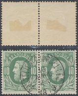 """émission 1869 - N°30 En Paire Obl Simple Cercle Anormale """"Gosselies-Courcelles"""" - 1869-1883 Leopold II"""