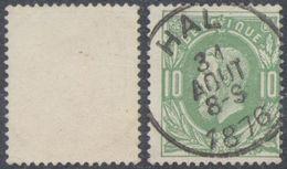 "émission 1869 - N°30 Obl Simple Cercle ""Hal"" - 1869-1883 Leopoldo II"