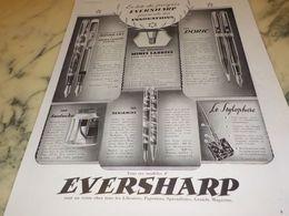 ANCIENNE PUBLICITE EN TETE DU PROGRES STYLO EVERSHARP  1933 - Autres Collections
