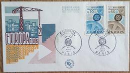 FDC 1967 - YT N°1521, 1522 - EUROPA - PARIS - FDC