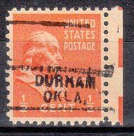 USA Precancel Vorausentwertung Preo, Locals Oklahoma, Durham 729 - Vereinigte Staaten