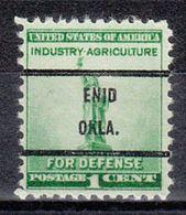 USA Precancel Vorausentwertung Preo, Bureau Oklahoma, Enid 899-71 - Vereinigte Staaten