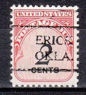USA Precancel Vorausentwertung Preo, Locals Oklahoma, Erick 716 - Vereinigte Staaten