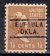 USA Precancel Vorausentwertung Preo, Locals Oklahoma, Eufola 729 - Vereinigte Staaten