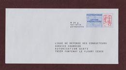 PAP - N° Au Dos: 14 P 180 - LIGUE DE DEFENSE DES CONDUCTEURS - Repiquage Ciappa Et Kawena - Neuf ** -face & Dos - Postal Stamped Stationery