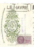 Traite 1950 / 76 LE HAVRE /  L. GAILLARD / Cafés MINAS / Timbres Fiscaux - Bills Of Exchange