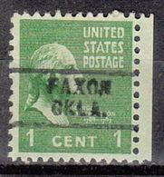 USA Precancel Vorausentwertung Preo, Locals Oklahoma, Faxon 729 - Vereinigte Staaten