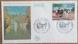 FDC 1967 - YT N°1517 - LA CARRIOLE DU PERE JUNIET / HENRI ROUSSEAU - LAVAL - FDC