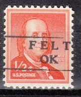 USA Precancel Vorausentwertung Preo, Locals Oklahoma, Felt 871 - Vereinigte Staaten