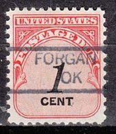 USA Precancel Vorausentwertung Preo, Locals Oklahoma, Forgan 835 - Vereinigte Staaten