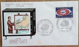 FDC 1967 - YT N°1515 - CONGRES INTERNATIONAL DE L'UER / RADIO / TELEVISION - PARIS - FDC
