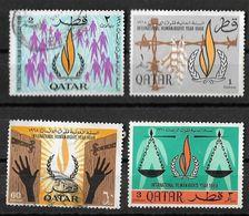 1968 QATAR 20th Anniversary Of Declaration Of Human Rights Used - Qatar