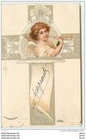 N°7998 - Carte Fantaisie - Ange Jouant De La Trompette - Clapsaddle - Angeles
