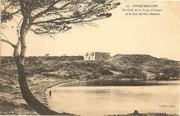 83 -  PORQUEROLLES -  Un Coin De La Plage D'Argent  Et Le Fort De Bon-Renaud 248 - Porquerolles