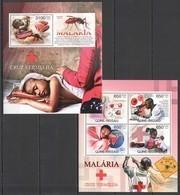 BC502 2012 GUINE GUINEA-BISSAU RED CROSS FIGHT AGAINST MALARIA CRUZ VERMELHA KB+BL MNH - Malattie